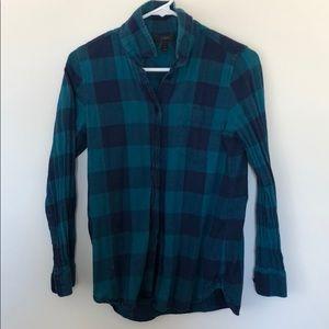 J. Crew Blue Flannel Shirt